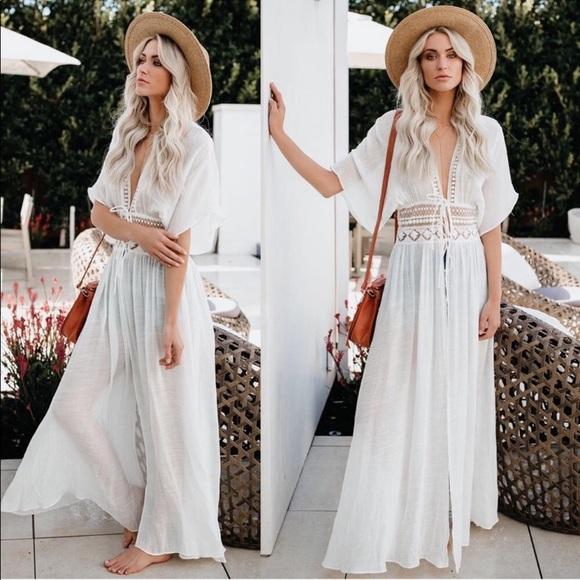 Vici Dresses & Skirts - Vici Hemingway White Boho Duster Kimono, S
